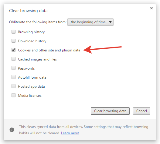 Google Chrome browser configurations for deleting all of the Onlile Notepad content
